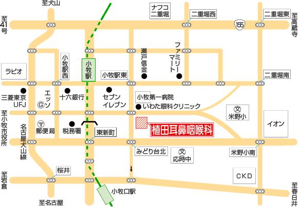 周辺地図のイラスト